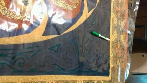 Designing the quilting for Elizabeth